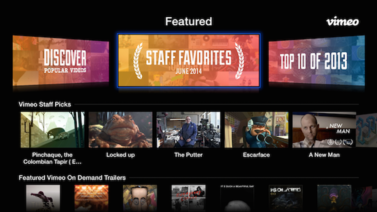 Discover great videos faster on apple tv on vimeo stopboris Image collections