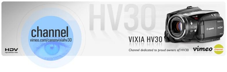 Canon Vixia HV30 HDV