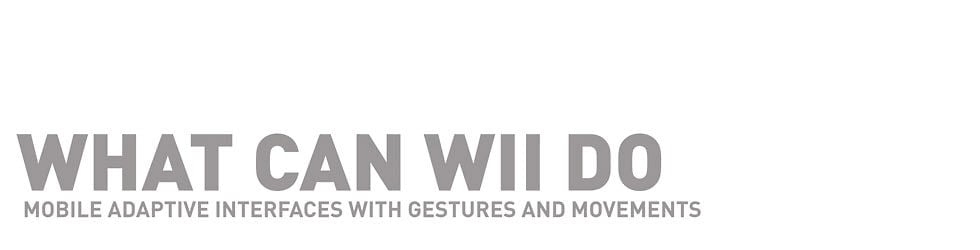 What can wii do