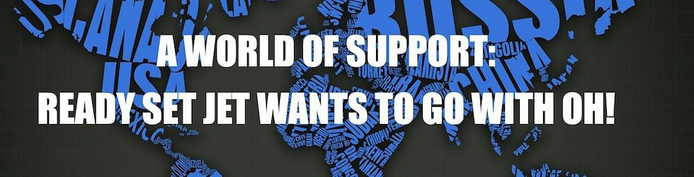 A WORLD OF SUPPORT FOR GILLIAN TO GO WITH OH!