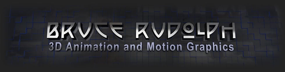 Bruce Rudolph,  3D Animation and Motion Design, specializing in Cinema 4D and After Effects
