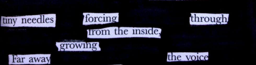 Year 9 Blackout Poetry (Visual Texts)