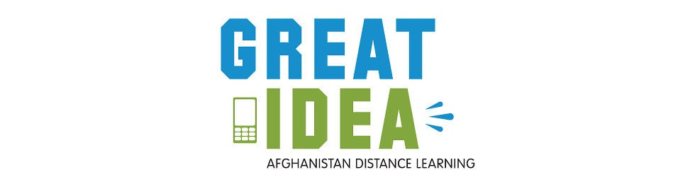 Great Idea - Distance Learning Afghanistan