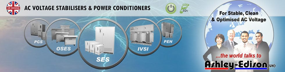 Ashley-Edison (UK) - AC Voltage Stabilizers and Power Line Conditioners