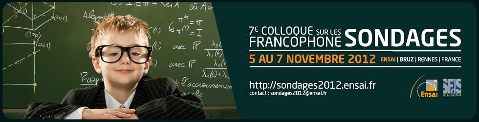 7e Colloque francophone sur les sondages