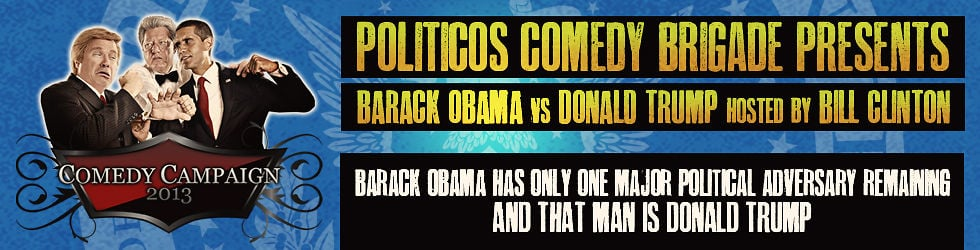 Comedy Campaign 2013 Obama vs Trump hosted by Clinton