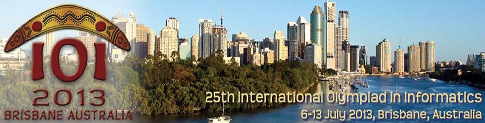International Olympiad in Informatics (IOI) 2013