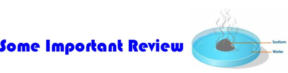 SCH4U - Important Review