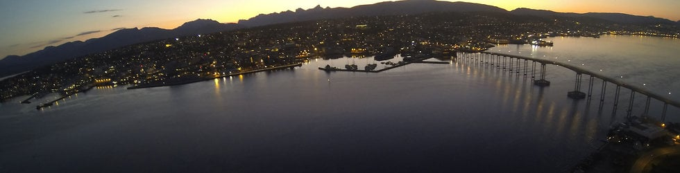 Tromsø from the air, North Norway