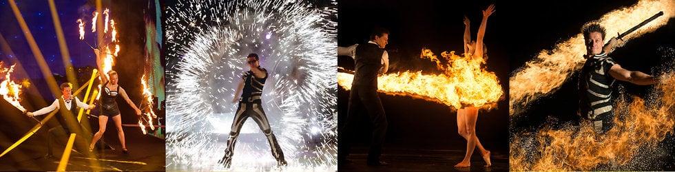 Spark Fire Dance - Cirque du Soleil - Exclusive Explosive Entertainment - previous events and current acts