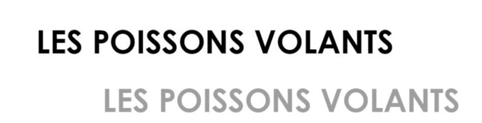 LES POISSONS VOLANTS
