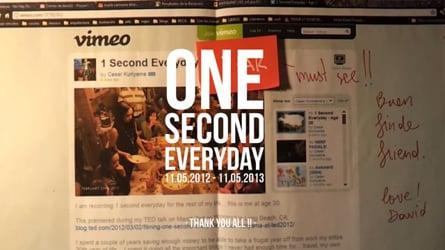 One second everyday.