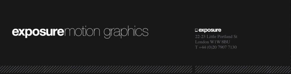 exposure motion graphics
