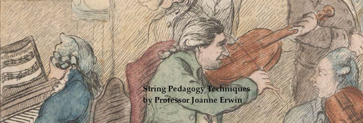 String Pedagogy Techniques by Professor Joanne Erwin