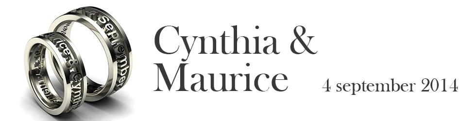 Bruiloft van Cynthia & Maurice