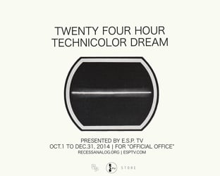 "E.S.P. TV: ""24 Hour Technicolor Dream"" for Official Office"