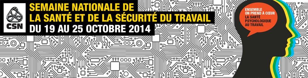 Semaine nationale de la santé et de la sécurité du travail 2014