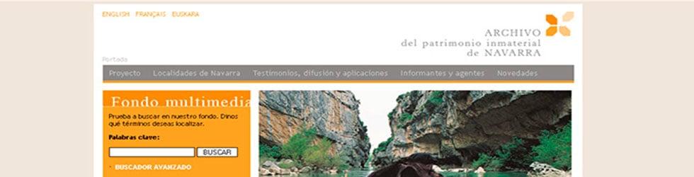 NAVARCHIVO - Archivo del Patrimonio Inmaterial de Navarra - Nafarroako Ondare Immaterialaren Artxibategia