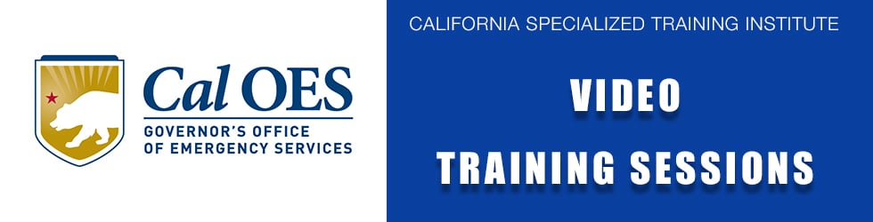 Cal OES Training Sessions