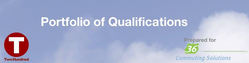 36 Commuting Solutions - Portfolio of Qualifications