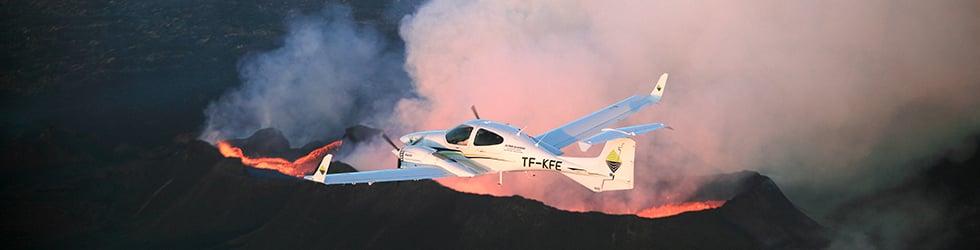 Flight training in Iceland