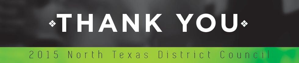 District Council 2015 - Thank You