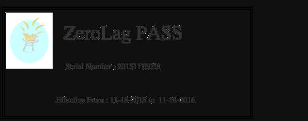 ZeroLag Pass info