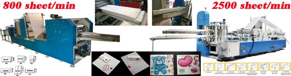 China manufacturer facial tissue paper napkin toilet machine