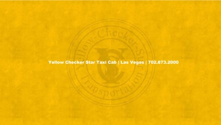 Yellow Checker Star Taxi Cab