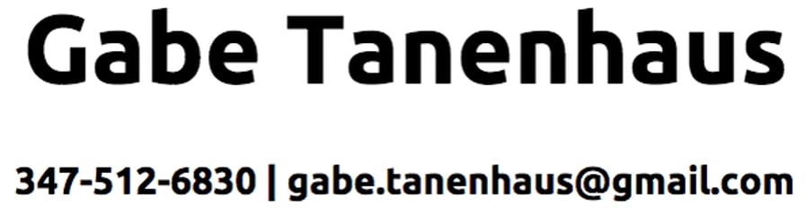 Gabe Tanenhaus