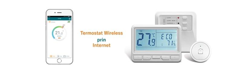 Termostat wireless programabil pe internet cu aplicatie smartphone