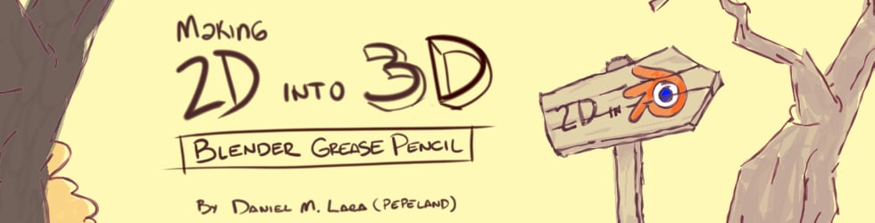Blender Grease Pencil - Making 2D in a 3D eviroment
