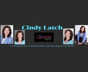 Cindy Latch, TV and Infomercial Host, Commercial Actress