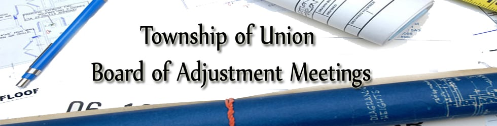 Township of Union Board of Adjustment Meetings