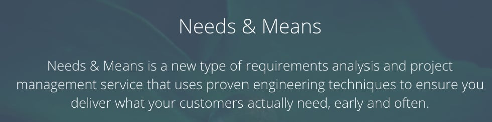 Needs & Means