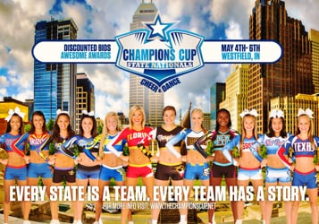 THE CHAMPIONS CUP CHEER AND DANCE STATE NATIONALS TV