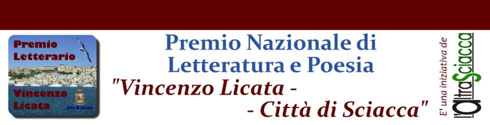 """Premio Letterario """"V. Licata - Città di Sciacca"""""""