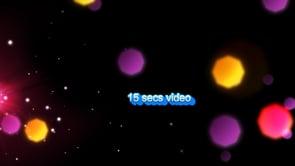 15 secs video