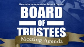 MISD Board Meetings