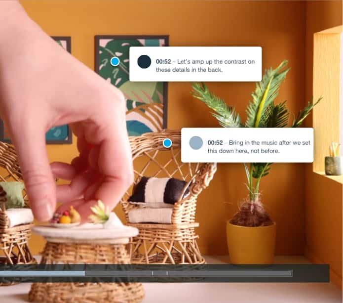 视频评论工具UI,注释视频框架上标记