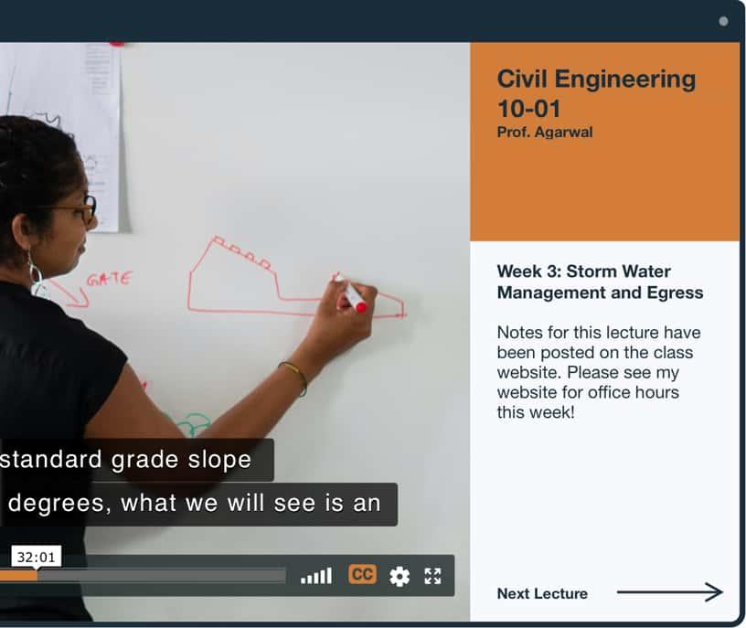 在土木工程视频中隐藏标题的视频访问性和合规性特征示例
