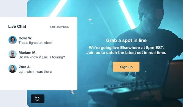 Chat en direct et bouton d'appel à l'action sur l'écran de fin de vos vidéos