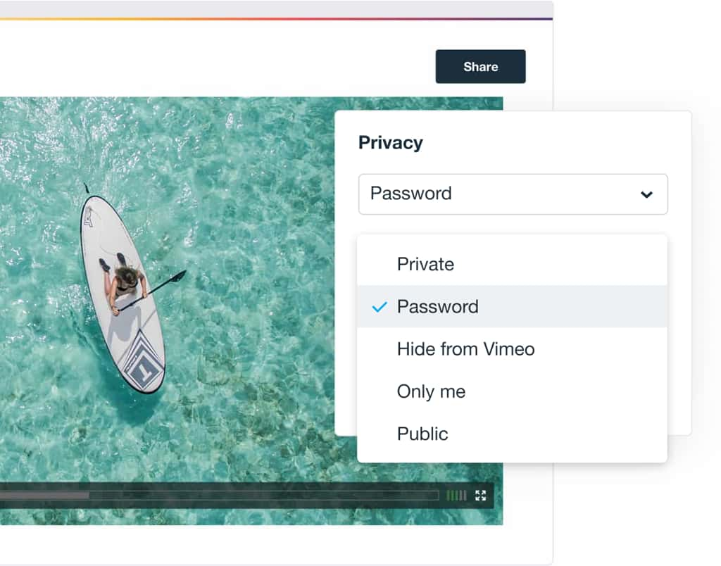 a Vimeo video able to be exported at any size