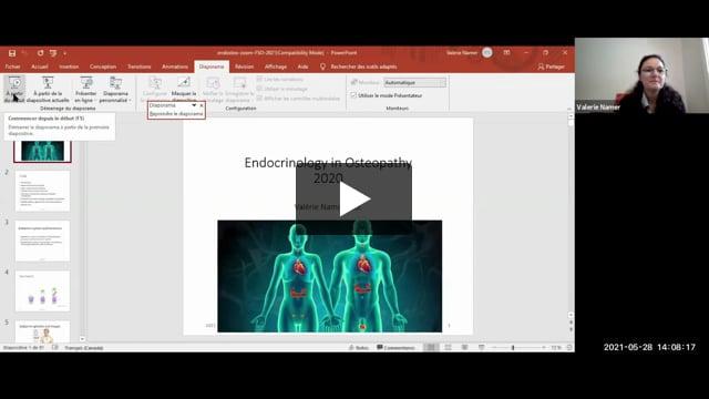 Webinar: Intégration du système endocrinien dans une approche ostéopathique globale