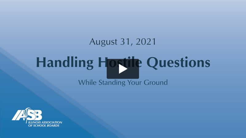 Handling Hostile Questions While Standing Your Ground
