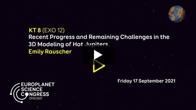 Vimeo: EPSC2021 KT8 – EXO keynote talk by Emily Rauscher