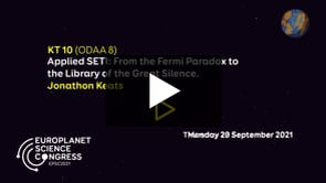 Vimeo: EPSC2021 – KT10 ODAA keynote talk by Jonathon Keats