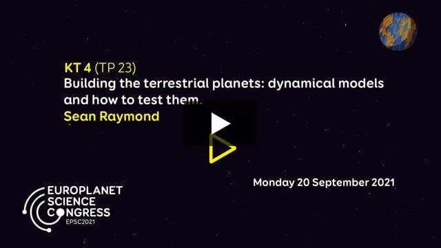 Vimeo: EPSC2021 – KT4 TP keynote talk by Sean Raymond