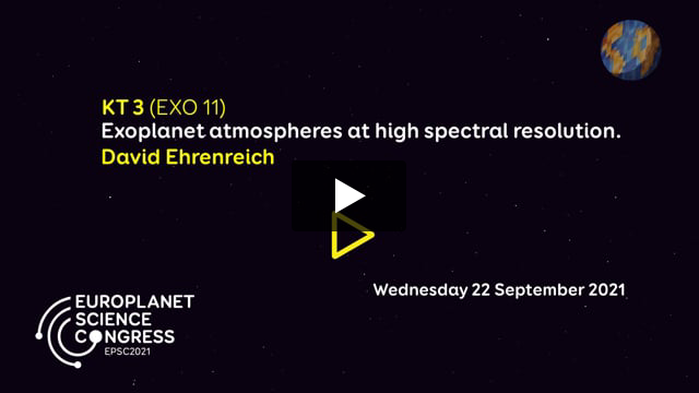 Vimeo: EPSC2021 – KT3 EXO keynote talk by David Ehrenreich