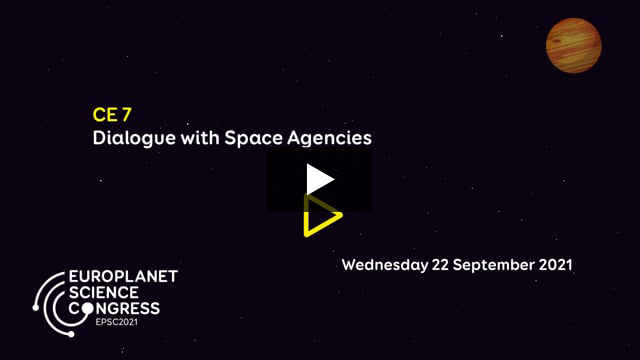 Vimeo: EPSC2021 – CE7 Dialogue with space agencies